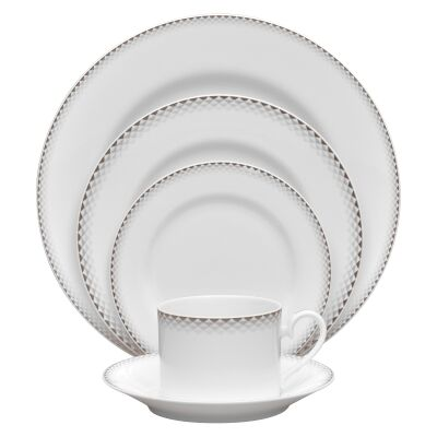 Noritake City Dawn 20 Piece Fine China Dinner Set