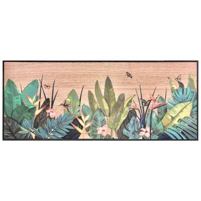 Tropicana Printed Wooden Wall Art, Tropical Leaves, 112cm