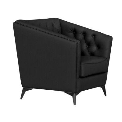 Roche Faux Leather Armchair, Black