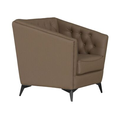 Roche Faux Leather Armchair, Brown