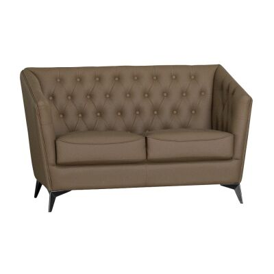 Roche Faux Leather Sofa, 2 Seater, Brown