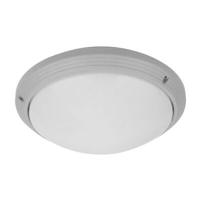 Polyslim IP65 Italian Made Exterior Ceiling Light, Silver