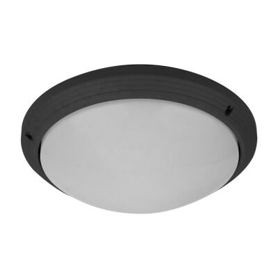 Polyslim IP65 Italian Made Exterior Ceiling Light, Black