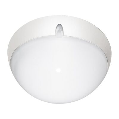 Polydome IP66 Italian Made Exterior Ceiling Light, Small, White