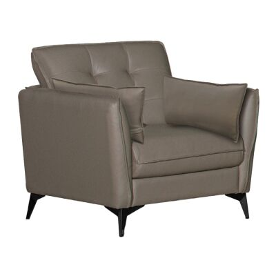 Rossiter Leather Armchair, Stone