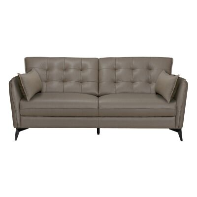 Rossiter Leather Sofa, 2 Seater, Stone