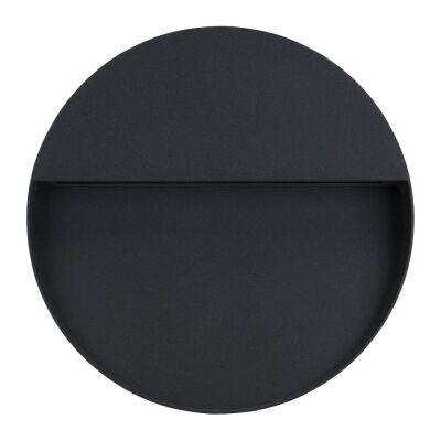 Zeke IP65 Exterior Surface Mounted LED Steplight, 3000K, Maxi  Round, Dark Grey