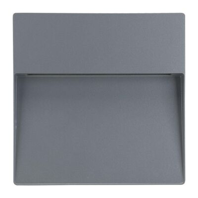 Zeke IP65 Exterior Surface Mounted LED Steplight, 5000K, Maxi Square, Silver
