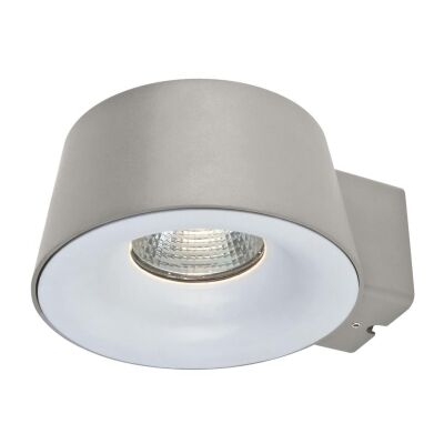 Cup IP54 Exterior LED Wall Light, 5000K, Silver