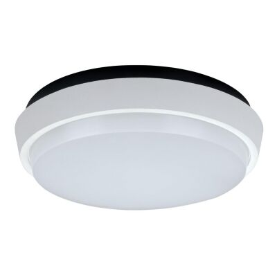 Disc IP54 Indoor / Outdoor LED Oyster Light, 3000K, 24cm, White