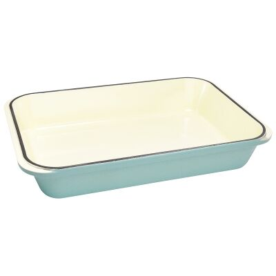 Chasseur Cast Iron Rectangular Roaster, 40x26cm, Duck Egg Blue
