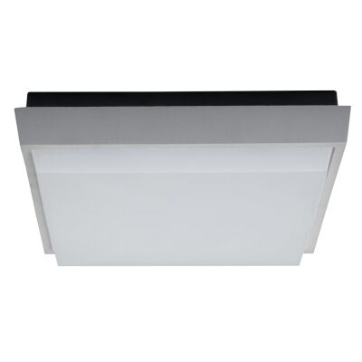 TAB IP54 Indoor / Outdoor LED Oyster Light, 3000K, 30cm, Silver