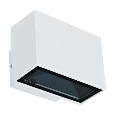 Block IP65 Exterior Two Way LED Wall Light, 3000K, Mini, White