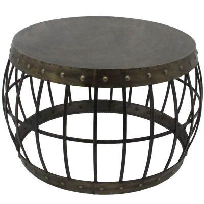 Carson Metal Round Coffee Table, 69cm
