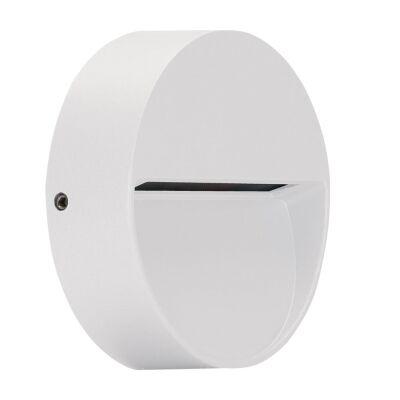Zeke IP65 Exterior Surface Mounted LED Steplight, 5000K, Mini  Round, White