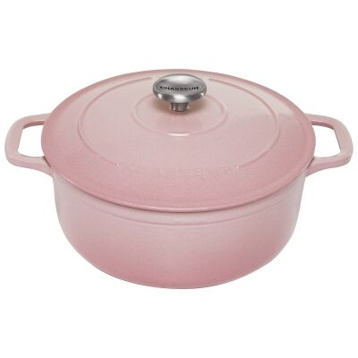 Chasseur Cast Iron Round French Oven, 24cm, Cherry Blossom
