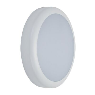 Versa IP65 Exterior LED Bunker Wall Light, Plain, White