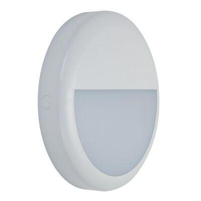 Versa IP65 Exterior LED Bunker Wall Light, Eyelid, White