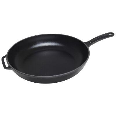 Chasseur Cast Iron Fry Pan, 28cm, Matt Black