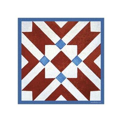 Telki Milano Marsala Italian Made Square Trivet, Red