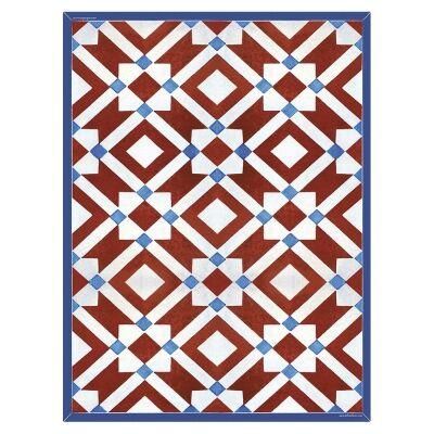 Telki Milano Marsala Italian Made Floor Mat, 120x60cm, Red