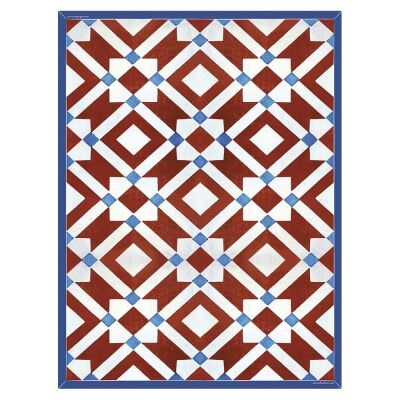 Telki Milano Marsala Italian Made Floor Mat, 198x120cm, Red