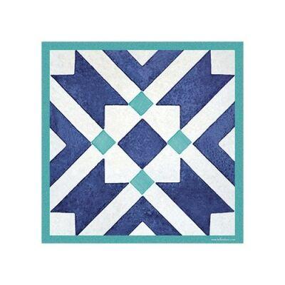 Telki Milano Marsala Italian Made Square Trivet, Blue