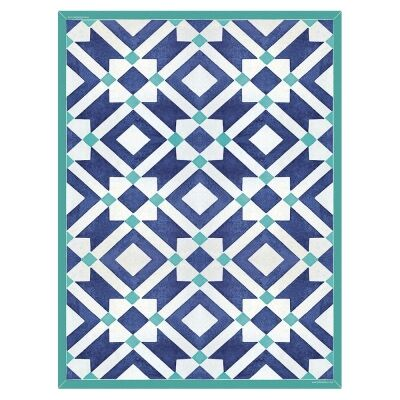 Telki Milano Marsala Italian Made Floor Mat, 120x60cm, Blue