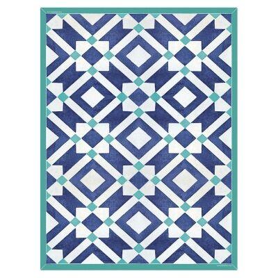 Telki Milano Marsala Italian Made Floor Mat, 198x120cm, Blue
