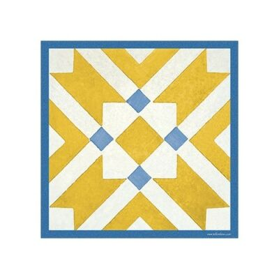 Telki Milano Marsala Italian Made Square Trivet, Yellow