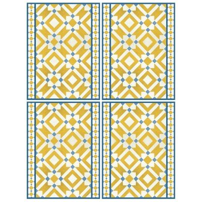 Telki Milano Marsala Italian Made Placemat, Set of 4, Yellow