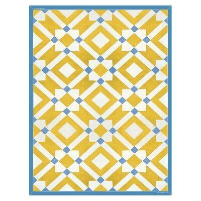 Telki Milano Marsala Italian Made Floor Mat, 120x60cm, Yellow