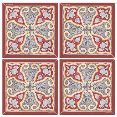 Telki Milano Vazquez Italian Made Square Coaster, Set of 4