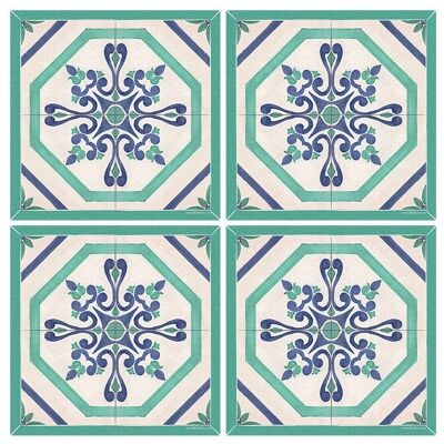 Telki Milano Bennett Italian Made Square Coaster, Set of 4