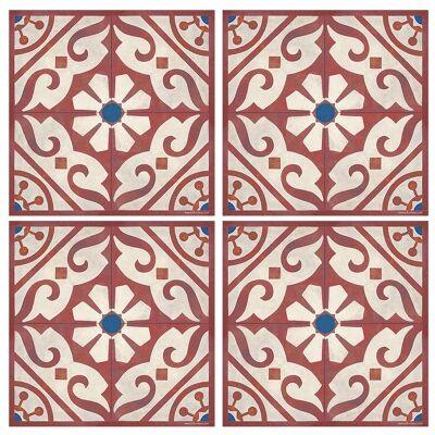 Telki Milano Carlie Italian Made Square Coaster, Set of 4