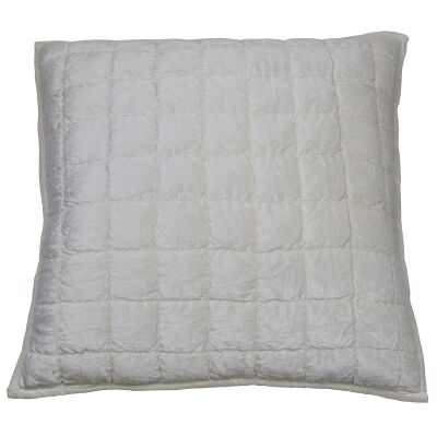 Audrey Velvet Scatter Cushion Cover, Ivory