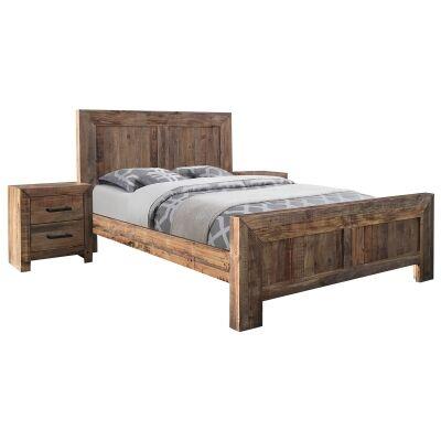 Aurora Pine Timber Bed, King