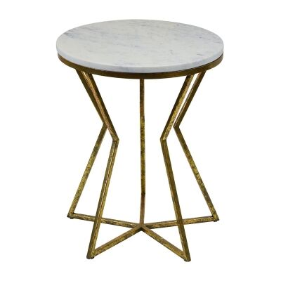 Philippos Iron & Marble Side Table