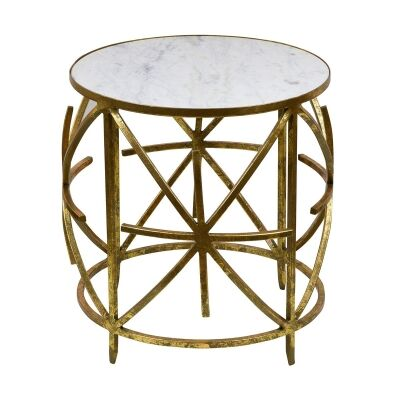 Nikolaos Iron & Marble Side Table