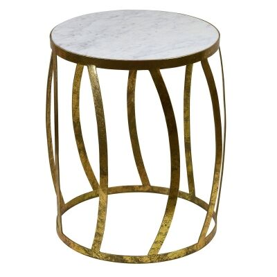 Alexia Iron & Marble Side Table