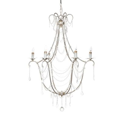 Whitney Iron & Crystal Chandelier, 6 Arm
