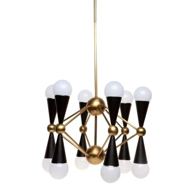 Quincy Brass Chandelier, 12 Arm
