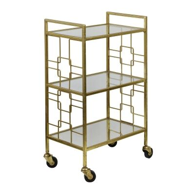 Sandringham Iron & Mirror Bar Cart
