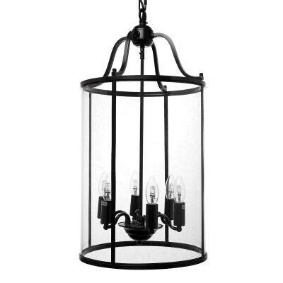Butler Glass & Metal Pendant Light, Medium