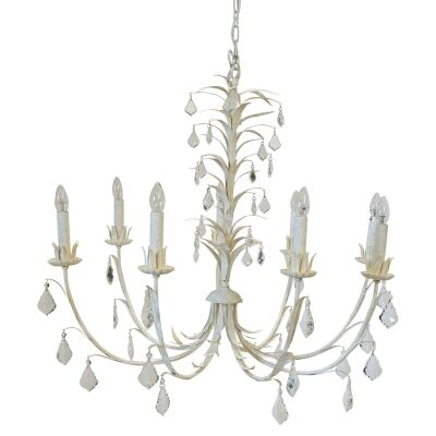 Ophelia Iron & Glass Chandelier, 8 Arm