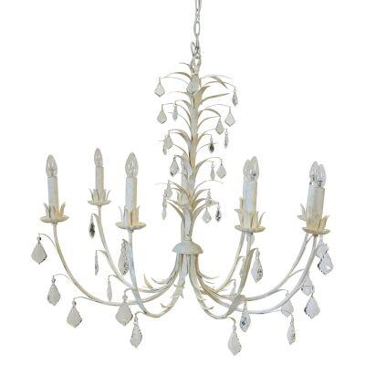 Ophelia Iron & Glass Chandelier, 8 Arm