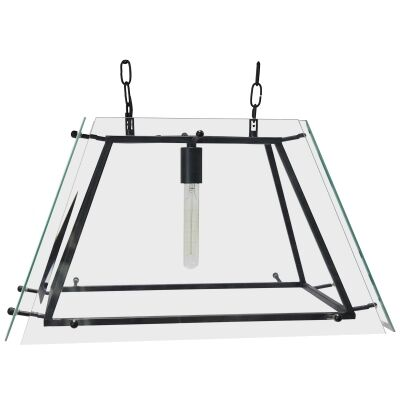 London Glass Pendant Light, Medium, Black