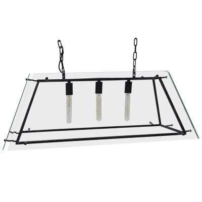 London Glass Pendant Light, Large, Black