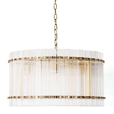 Paloma Glass Pendant Light, Round, Brass