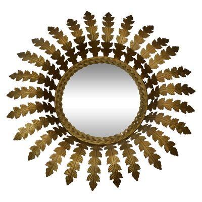 Napoleon Metal Frame Wall Mirror, 62cm